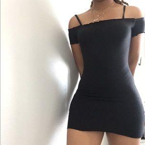 Off shoulder mini party dress